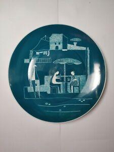 Vintage Chodziez painted porcelain plate