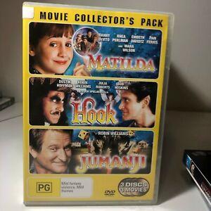 DVD - (MULTI) Matilda / Hook / Jumanji - FREE POST #P2