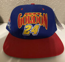 Vintage 90s Nutmeg NASCAR Jeff Gordon #24 Racing Snapback Hat DuPont NEW