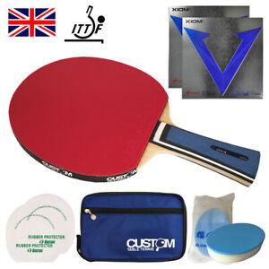 XIOM Diva Offensive Table Tennis Bat + XIOM Vega DF Rubbers NEW UK FAST POST