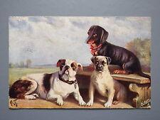 R&L Postcard: Raphael Tuck Oilette Favourite Dogs 9364, Bulldog etc