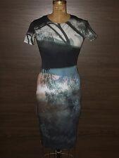 McQ Alexander McQueen Knee-length multicolor graphic jersey Dress