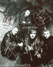 """Three Days Grace band Reprint Signed 8x10"""" Photo #1 RP by ALL 4 Members"""
