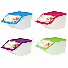4 x Dry Cat Dog Pet Animal Food Storage Scoop Organiser Container Box Bird Seed