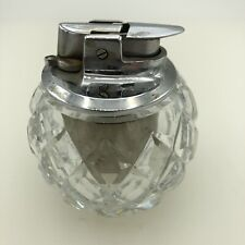 Ronson Glass Decorative Table Lighter Art Deco Vintage Collectible Antique Rare