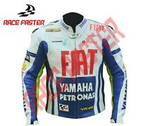 YAMAHA FIAT VR46 ROSSI MENS MOTORBIKE MOTORCYCLE RACING LEATHER JACKET XS - 5XL