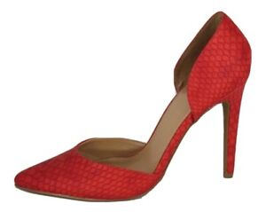 Express women's shoes orange synthetic upper high heel pumps size 9