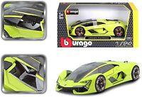 Bburago 1:24 Green Lamborghini Terzo Millennio Diecast Model Car 18-21094GRN