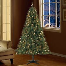 6.5 ft Pre-Lit Windham Pine Artificial Christmas Tree Clear Lights NEW!!!