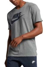 NIKE MENS FUTURA ICON T-SHIRT ATHLETIC CUT LOGO GREY BLACK X-LARGE 943065063 NEW