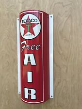 Texaco Free Air Curved Metal  Gasoline Gas sign Pump Oil WOW!!!