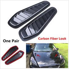 2x Universal Car Decorative Air Flow Intake Turbo Bonnet Vent Cover Hood Sticker