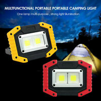 Portable USB 30W COB LED FloodLight Rechargeable Work Lamp Power Bank Emergency