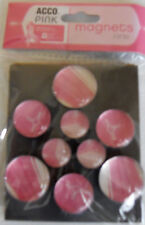 Acco Pink Magnets Fridge 9ct Breast Cancer Awareness