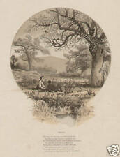 4 Seasons in Lot Of 4 Prints 1874