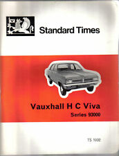 Vauxhal HC Viva Series 93000 original book Standard Repair Times unillustrated