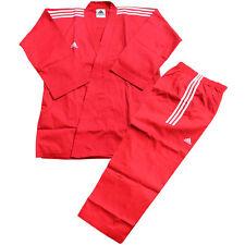 Adidas Champion 3-stripe Open Dobok/Martial Uniform/TaeKwonDo/Karatedo/Gis/Red