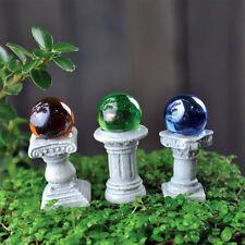 Miniature Fairy Garden Gazing Ball Pick set 3 / Faerie Gnome Hobbit 16576