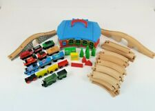 Thomas & Friends Wooden Railway Tracks & Thomas Lot & Station Carry Case