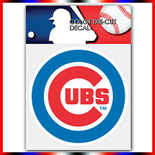 "Chicago Cubs MLB Die Cut Vinyl Sticker Car Bumper Window 4""x4"""
