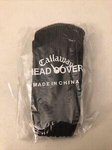 NEW Callaway Golf Universal Black Knit Headcover Hybrid Rescue Head Cover W/ Tab