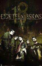 MUSIC POSTER~18 Eighteen Visions Yesterday Is Time Killed Macabre Koo's Cafe~New