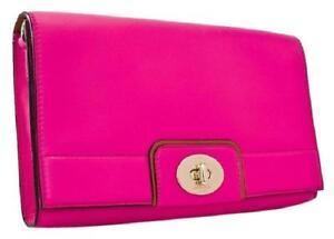 Kate Spade Juliana Hampton Road Leather Clutch / Crossbody NWT