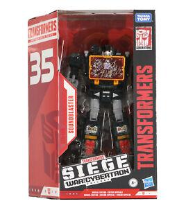 HASBRO Transformers War For Cybertron Soundblaster Black 35th Anniversary