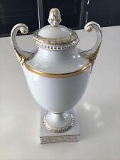 More details for furstenberg porcelain vase white and gold