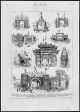 1882-Antiguo impresión Canadá Princesa Louise Marqués Lorne British Columbia (60)