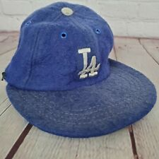 Vintage LOS ANGELES DODGERS Leather Band FITTED HAT
