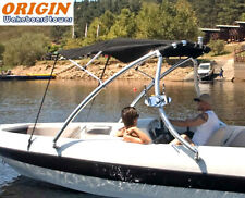 Origin Advancer Wakeboard Tower Polished + Foldable Tower Bimini Top Package