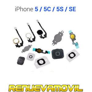 Boton Home Cable Flex Para iphone 5 5C 5S SE Cambiar Tecla Menu Inicio Oro Plata