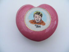 Wade  Original Tommy Steele  Pink Heart  Shaped Casket 1960s Lidded Trinket Dish