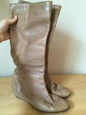 Loeffler Randall Matilde Low Wedge Size 8.5-9 Light Brown/Taupe Boots