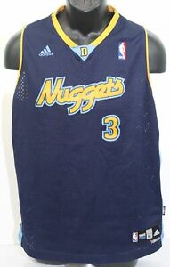 Vintage Denver Nuggets Allen Iverson #3 Adidas NBA Basketball Jersey Youth XL +2