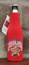 Maryland Terrapins Koozie Bottle Zipper Coolie College Football Beer Ncaa