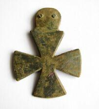 Original Old Dug Relics Vintage WW1 WW2  German Cross Bronze Pendant Decoration