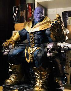 Custom Sideshow Thanos on Throne Portrait Sideshow Exclusive