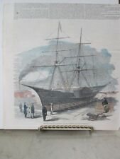 Vintage Print,CALORIC SHIP,Ericsson,Full Page,Color,1853