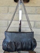 Bodhi Graphite leather and chain purse- Cross Body, Shoulder Bag or Clutch
