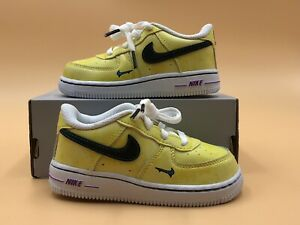 Nike Air Force 1 LV8 3 TD Peace Love And Basketball Size 8c Toddler DC7322 700