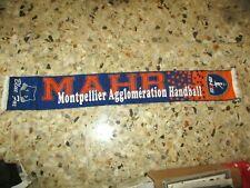 echarpe scarf ancienne MAHB MONTPELLIER HANDBALL BLUE FOX ultras maillot