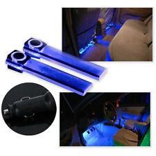 12V 4LED Car Auto Interior Atmosphere Lights Floor Decoration Lamp Light Blue SM