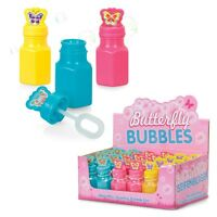 6 x BUTTERFLY BUBBLES TOY GIRLS BUBBLE MIX PARTY BAG CHRISTMAS STOCKING FILLERS