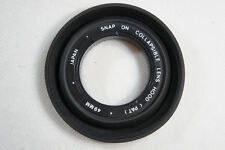 Snap on Collapsible 49mm Rubber Lens Hood (PAT)