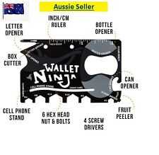 Wallet Ninja NEW 18 in 1 Credit Card Size Pocket Survival Multi-Tool (Unboxed)