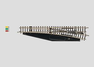 Z Scale - MARKLIN 8563 - Right Hand Electric Turnout 110mm r490mm