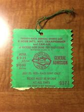 Vintage Watkins Glen 6 Hour Ticket Stub 1973 Imsa Can Am