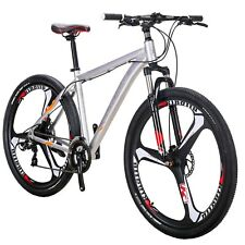 "29"" Aluminium Mountain Bike Disc Brakes Mens Bikes 21 Speed Bicycle MTB 29er XL"